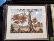 Sale 8491 - Lot 2001 - William Clarke Australia Country Scene Watercolour Gouache (  48x63cm ) Signed Lower Right