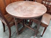 Sale 8700 - Lot 1039 - Oak Drop Leaf Occasional Table