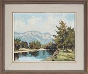 Sale 8836 - Lot 2019 - Rhys Williams (1894 - 1976) - Still Waters, Burragorang 29 x 36.5cm