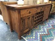 Sale 8822 - Lot 1820 - Timber Sideboard with Central Wine Rack