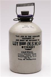 Sale 9052 - Lot 181 - Sydney Loy Brothers Demijohn (H: 27cm)