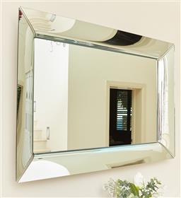 Sale 9120K - Lot 2 - A large cushion framed mirror, 140cm x 155cm