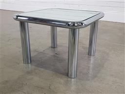 Sale 9191 - Lot 1075 - Mirror top coffee table (h45 x w54 x d54cm)