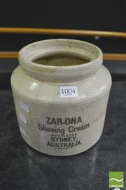 Sale 8392 - Lot 1004 - Stoneware Shaving Cream Jar