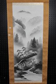 Sale 8445 - Lot 88 - Chinese Landscape Scroll