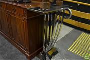 Sale 8472 - Lot 1001 - Vestibule Table in Stainless Steel