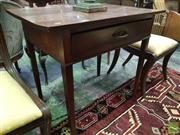 Sale 8539 - Lot 1036 - Late Georgian Oak Side Table, with single drawer & tapering legs, W 81cm