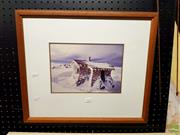 Sale 8619 - Lot 2061 - 2 Photographs: Mountain Hut & Coastal Scene