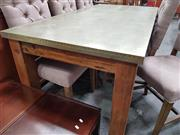 Sale 8669 - Lot 1037 - Detroit Dining Table With Zinc
