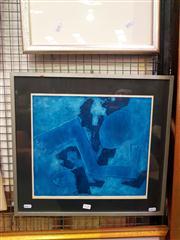 Sale 8663 - Lot 2132 - Pat Rowley - Blue Flight, screenprint, ed. AP, 46.5 x 50cm (frame size), signed lower right -