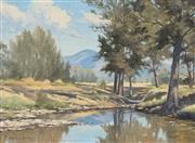 Sale 8870A - Lot 568 - Melvin Duffy (1930 - ) - Avon Back Water, Gloucester 61 x 45 cm