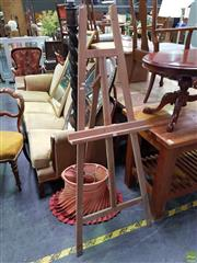 Sale 8601 - Lot 1105 - Timber Artists Easel