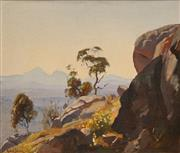 Sale 8652 - Lot 543 - Robert Johnson (1890 - 1964) - Porongurup Heights, W.A, 1937 36.5 x 43cm
