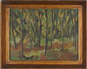 Sale 8807 - Lot 2030 - Artist Unknown - Untitled (Forest Scene) 38.5 x 51.5cm