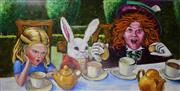 Sale 9002A - Lot 5037 - Amabile Dalfarra-Smith - You Mean You Cant Take Less The Hatter Said (A Walk in The Wonderland Series) 61 x 121 cm