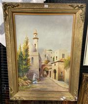 Sale 9011 - Lot 2033 - William Payne - Middle-Eastern Town scene, oil on canvas (AF), 80 x 60cm, signed lower right -