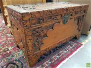 Sale 8589 - Lot 1073 - Carved Camphorwood Chest