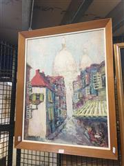 Sale 8720 - Lot 2053 - Hans Selke - Town Scene, Florence oil on board, 66 x 52.5cm, signed lower left