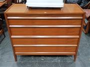 Sale 8723 - Lot 1068 - Quality 4 Drawer Teak Younger Chest