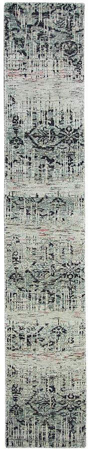 Sale 8725C - Lot 13 - An Indian Subzi Runner, Hand-knotted Wool, 400x70cm, RRP $850