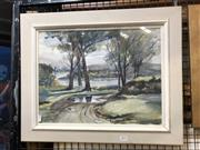 Sale 8819 - Lot 2033 - Vera Massey Rainy Day Meadow Bank, watercolour, 32.4 x 43cm, signed lower right -