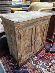 Sale 8826 - Lot 1092 - Rustic Timber Cabinet with Two Doors