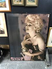 Sale 8856 - Lot 2090 - Large Marilyn Monroe Advertising Print