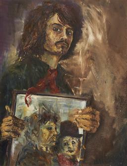 Sale 9150 - Lot 540 - PIERS BATEMAN (1947 - 2015) - Self Portrait, 1970 112 x 86 cm (frame: 122 x 97 x 4 cm)