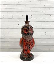 Sale 9092 - Lot 1044 - Vintage glazed ceramic vase of an Owl (signed to base) (h62cm) -