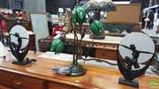 Sale 8404 - Lot 1035 - Pair of Art Deco Style Table Lamps and a Tulip Lamp