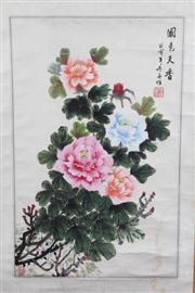Sale 8445 - Lot 73 - Chinese Chrysanthemum Scroll
