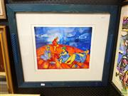 Sale 8627 - Lot 2009 - John Marshall, The Last Cupcake in Brighton, hand coloured etching, 58 x 68 frame, signed lower right