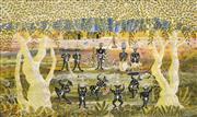 Sale 8675 - Lot 512 - Henri Bastin (1896 - 1979) - Untitled, 1963 (Ceremonial Dance) 44 x 75cm