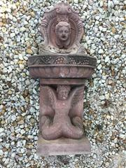 Sale 8772A - Lot 11 - A Hand Carved Stone Fountain, Fountain Consists Of 3 Parts, General Wear , Aged, Slight Chipping Size: 142cm H x 72cm Widest