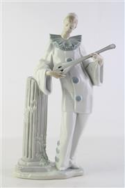 Sale 8810 - Lot 29 - Nao Figure of Pierrot with Mandolin