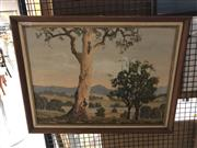 Sale 8903 - Lot 2064 - Ern Richards, Gum Trees, oil on canvas on board, 44 x 60 cm, signed lower left