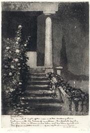 Sale 9021 - Lot 588 - Lionel Lindsay (1874 - 1961) - Desolation 18 x 12.5 cm (frame: 39 x 32 x 1 cm)
