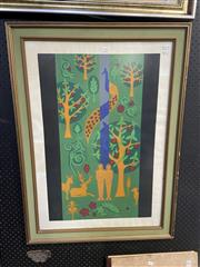 Sale 9028 - Lot 2058 - J Edward? The Sixth Day 1970 screenprint ed. 9/10, 94 x 70cm (frame) signed and dated lower right