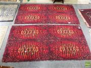 Sale 8476 - Lot 1092 - Pair of Modernist Red Tone Rug