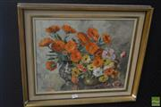 Sale 8525 - Lot 2002 - Ruth C Williams - Flowers of July 36 x 44cm