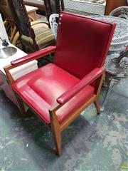 Sale 8585 - Lot 1696 - Vintage Timber Framed Armchair