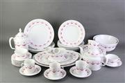 Sale 8796 - Lot 77 - Furstenberg Pink And White Dinner Service