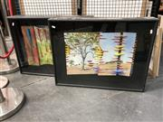 Sale 8833 - Lot 2063 - Pair of mixed media relief works by an Unknown Artist, 74 x 56.5cm, each