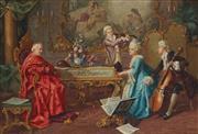 Sale 8916 - Lot 574 - Raffaele Moretti (c1880 - 1920) - Cardinals Entertainment 36.5 x 55 cm