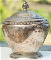 Sale 8976H - Lot 25 - An Austro-hungarian silver lidded sugar bowl, by Schwarz and Steiner height 13cm, wt 330g