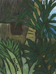 Sale 9084 - Lot 523 - Ray Crooke (1922 - 2015) - View through the palms 22 x 16.5 cm (frame: 44 x 38 x 3 cm)