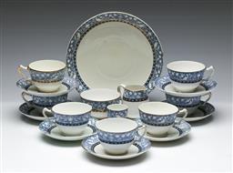 Sale 9156 - Lot 71 - A Crown Staffordshire blue and white tea part suite