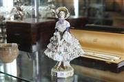Sale 8360 - Lot 34 - Crinoline Figure of a Lady