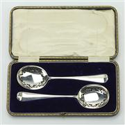 Sale 8413 - Lot 63 - English Hallmarked Sterling Silver Edward VII Berry Spoons