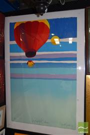 Sale 8509 - Lot 2007 - Stewart Merrett - Very Hot Balloon, 1985, screenprint ed.10/70, 140 x 97cm, signed lower right